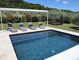 Gite Olea, entoure d'oliviers avec piscine