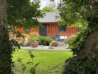 True West Coast experience custom log home with Sauna & outside cedar soaker tub