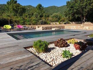 Maison 3 chambres avec piscine  chauffée
