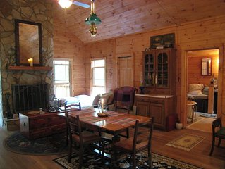 Mountain Cabin 15 Min. to Bristol / BMS Stunning 11 Acre Property