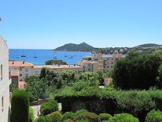 Beau F2 vue mer, residence fermee avec piscine