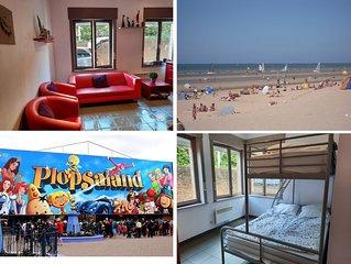 Appartement 2 chambres - 6 personnes a 75m de la plage et pres de Plopsaland