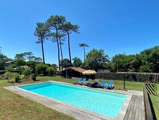 Villa Valhalla Labenne - 400 métrés de la plage avec grand piscine et sauna !