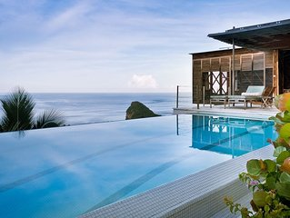 Architectural masterpiece overlooking the Caribbean and Piton mountains