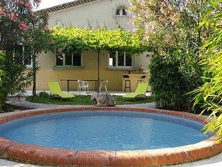 Mazet des Farfadets : Maison à la campagne avec bassin de baignade