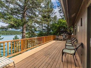 """Sel's Dog House"" end of the road setting on beautiful Flathead Lake"
