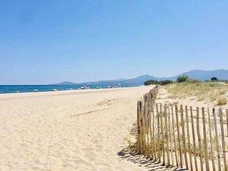 Le Barcarès T2 avec terrasse à 200 m de la plage