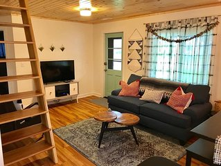 Dogwood Cottage: A  Renovated Retro Cottage- 2 Full baths, A/C. Wi-Fi, Fire Pit