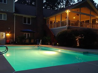 The Cave * Sprucewood Manor 2br/1ba Guest Suite- Pool, theatre, & more!