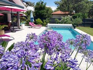 Villa comptemporaine au calme avec  piscine, plage Labenne Océan à pied à 300 m