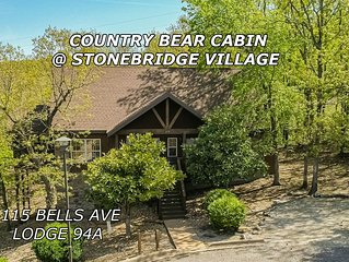 Country Bear Cabin 1 BD 1.5 BA Near Silver Dollar City & Branson Strip Sleeps 4
