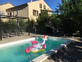 Gite d Elena Un gite de charme,avec piscine privee, au pied du Mont Ventoux