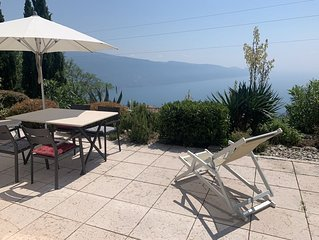 Exklusive Terrassenwohnung mit Traumblick über den Gardasee