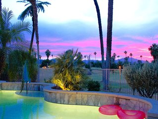 Desert Oasis ~ Walk 2 Festivals! Pool! Spa! Views!