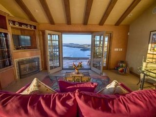 Breathtaking Vineyard and Lake Views, Secluded One of Kind Retreat