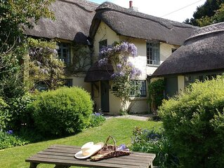 300 year old Beautiful 6 bed New Forest Thatched Cottage with Games room