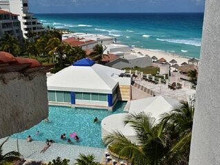 Ocean front ocean view Hotel Zone Cancun.