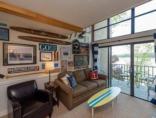 514C- One bedroom lakefront condo w/ scenic balcony & cozy fireplace!
