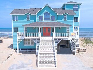 Peaceful Oceanfront Escape in Rodanthe w/ Hot Tub, Game Rm, & Boardwalk to Beach