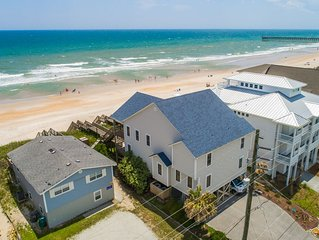 HypNautical: 4 BR / 3 BA, Surf City, Sleeps 7 - family friendly, beachfront