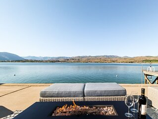 Lakefront home w/ private dock, buoy, & large waterfront patio - near wineries!