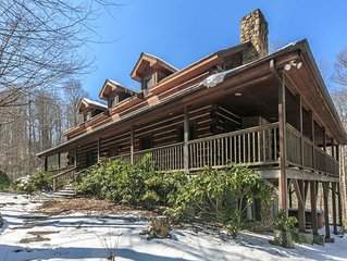 Hebron Falls ~ Wraparound porch, private setting, Hiking, Pool Table, Pet Friend
