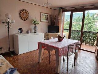appartement F2 + terrasse - classé 3 étoiles - avec vue village et Canigou