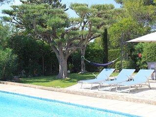 Demeure de charme climatisee proche mer piscine privee,  ultra residentielle