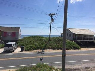 Pet-Friendly Kitty Hawk Semi-Oceanfront steps to the beach!  Ocean views!