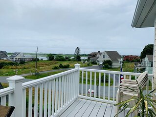 Wake up to sweeping ocean and salt marsh views all the way to Block Island!