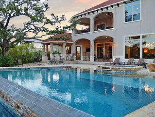 Tuscan style home in quiet neighborhood with private pool/hot tub on Lake LBJ