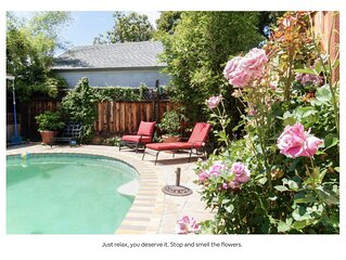 Downtown Mtn View, modern & luxurious house with private pool