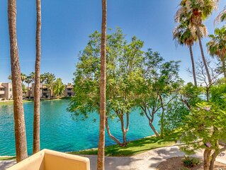 Lake and garden views. Lakefront 2 bedroom condo in a great location!.
