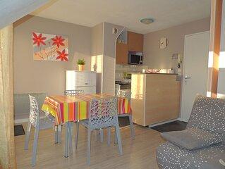 Joli appartement très bien équipé 30m² avec balcon et garage sécurisé