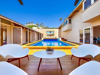 20% OFF JULY - Mid Century Modern Beauty w/ ocean views, beach access & pool