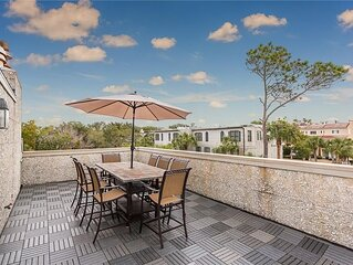 Amazing Views from Roof Top Deck! Located across the street from the Beach