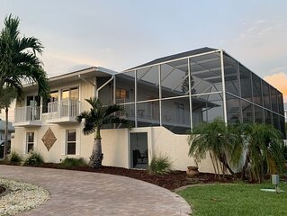 Waterfront home with spectacular water views from every room, heated pool, dock