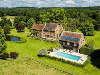 Characterful historic farmhouse set within worked farm land. Exclusive use