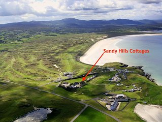 Sandy Hills Cottages, overlooking Rosapenna Golf Resort and  Tramore Beach