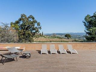 Loft d'architecte 5* au coeur des vignes avec terrasse ensoleillée