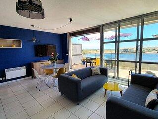 Appartement contemporain vue sur mer dans résidence  naturiste