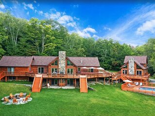 Amazing Vermont Estate with 2 houses, 11 bedrooms, a pool, sauna, and gameroom!