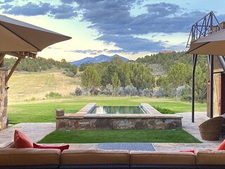 Sky Door Retreat: 35 acres, 8,278 square feet, small infinity pool, and views!