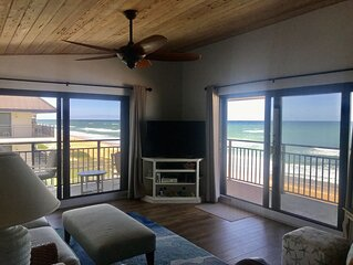August special! Ocean front condo with gorgeous panoramic beach views���☀️
