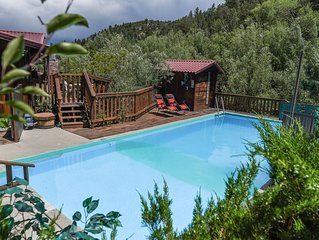 Hot Springs Private Swim Pool, Private Soaking Pool, Chalk Creek Frontage