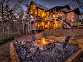 Nighthawk- Large Exclusive Lodge Style Home \ Views\ Outdoor Fireplace and Firep