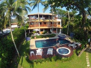 Magnifica casa pe na areia 4 suites (todas com ar cond.) piscina e hidromassagem
