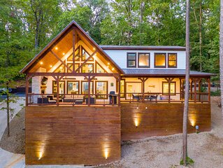 BRAND NEW 2 Bedroom Farmhouse Vibes Overlooking Ouachita Nat'l Forest- Sleeps 8