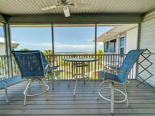 Enjoy a Beautiful Gulf Sunset from the Screened Porch on Resort Villa A3221B