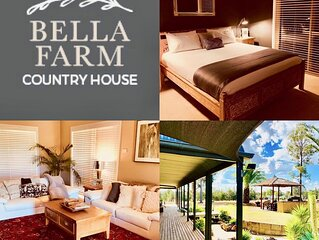 Bella Farm Country House with Firepit & Outdoor Jacuzzi. Close to Wineries.5star